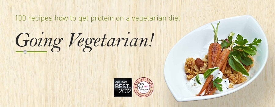 Going Vegetarian - App from .B-APPs for iPhone, iPad and Kindle